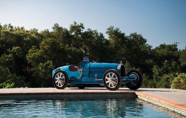 Картинка Бассейн, Blue, Vintage, Retro, 1927, Bugatti Type 35C