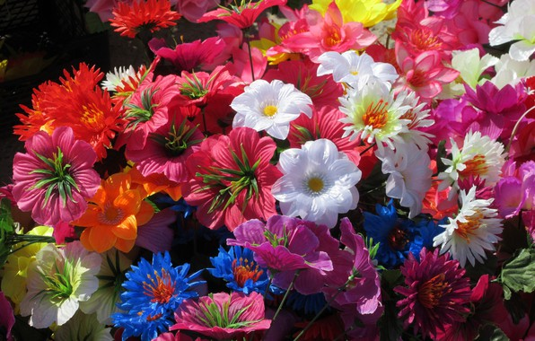 Картинка цветы, яркие, искуственные цветы, Mamala ©