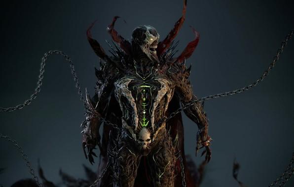 Картинка demon, спаун, suit, chains, spawn, hellspawn, necroplasma