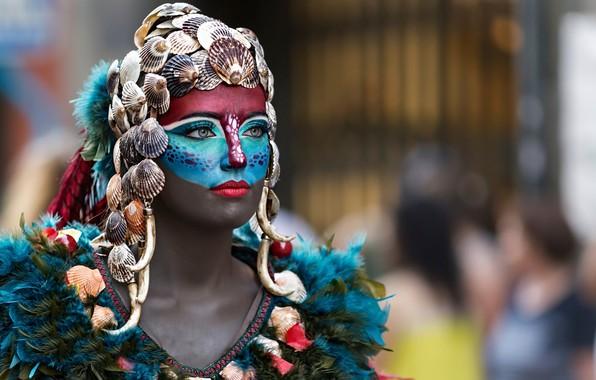 Картинка девушка, стиль, маска