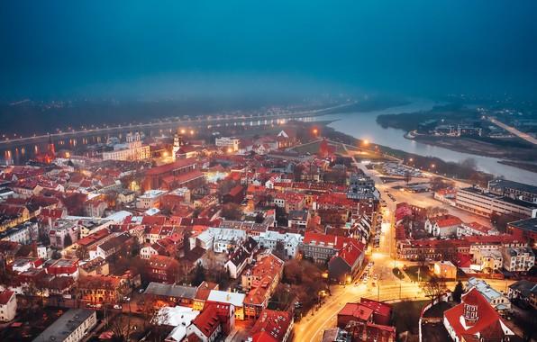 Картинка Lietuva, Kaunas, miestas, rūkas