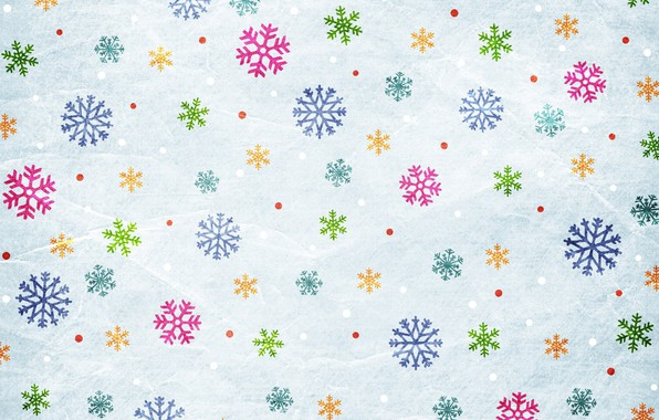 Картинка снежинки, фон, графика, текстура