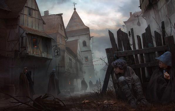 Картинка дети, переулок, Vladimir Manyukhin, Tramps