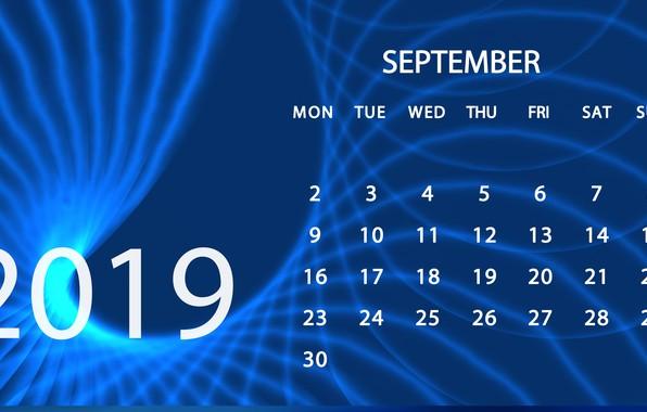 Картинка календарь, сентябрь, 2019