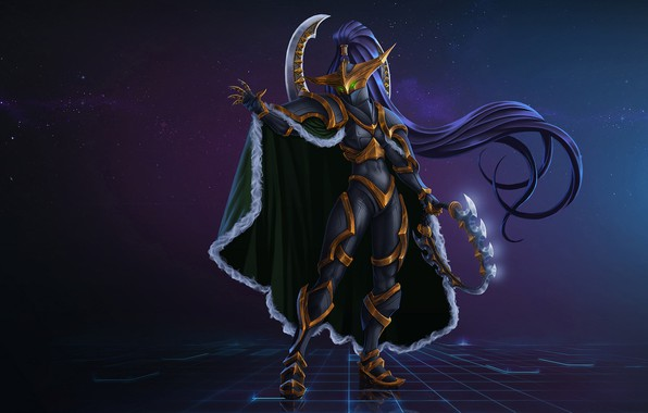 Картинка Fantasy, Warcraft, Art, Night Elf, Concept Art, Elf, Characters, Maiev, Maiev Shadowsong, by Kazbek Dzasezhev, …