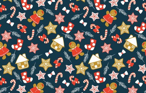 Картинка украшения, фон, Новый Год, Рождество, Christmas, winter, background, pattern, New Year, decoration, xmas, Merry, seamless