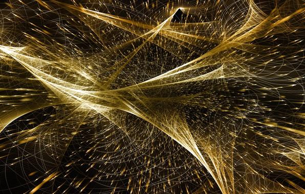 Картинка линии, частицы, кванты