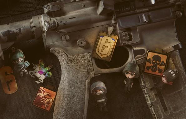 Картинка крупный план, Tom Clancy's Rainbow Six Siege, Rainbow Six Siege, амуниция камуфляж снаряжение, carbine M4, …