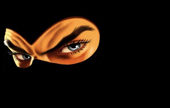 Картинка mask, darkness, eays, Diabolik