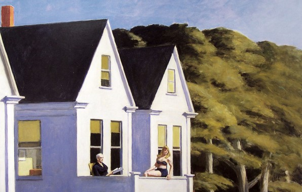 Картинка 1960, Edward Hopper, Second Story Sunlight