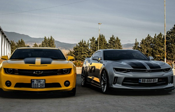 Картинка Chevrolet, Camaro, georgia, old, new, Orang, Silver, tbilisi, best cars