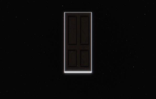 Картинка космос, свечение, звёзды, портал, дверь, space, portal, glow, stars, door