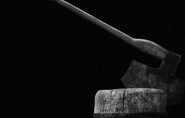 Картинка axe, wood, rust