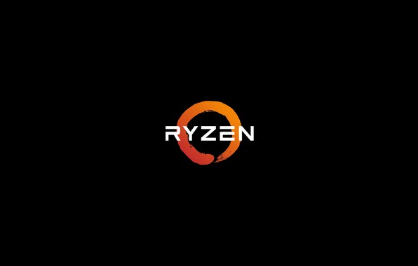 Картинка logo, black, Ryzen, RYZEN