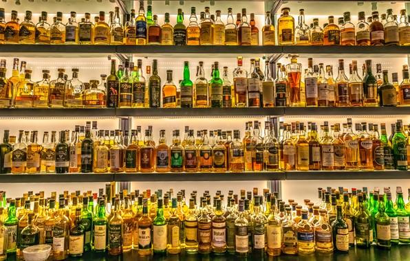 Картинка бутылки, Ирландия, виски, whiskey, Ireland, bottles, Dublin, Дублин, паб, pub, Jeffrey C. Sink