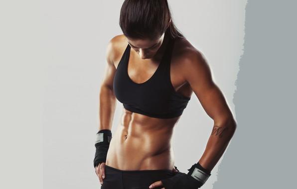 Картинка brunette, pose, fitness body