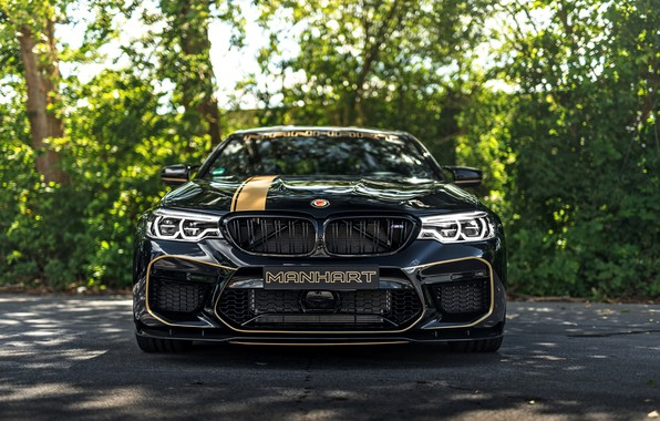 Картинка BMW, седан, спереди, 2018, Biturbo, BMW M5, Manhart, M5, V8, F90, 4.4 л., 723 л.с., …