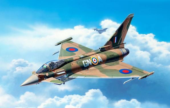 Картинка ВВС Великобритании, Typhoon, Eurofighter, многоцелевой истребитель четвёртого поколения