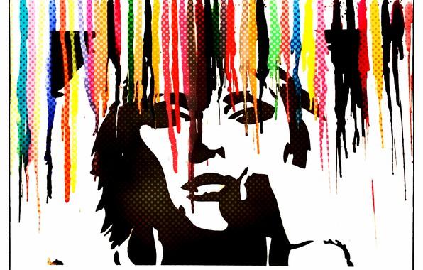 Картинка цвета, лицо, стена, рисунок, Краски