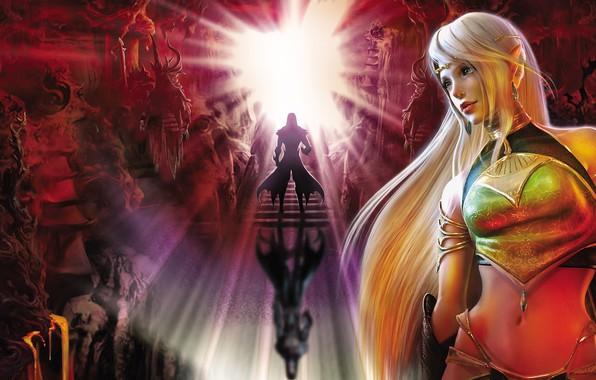 Картинка свет, light, волшебница, красивая девушка, очарование, beautiful girl, fantasy art, mythology, charm, sorceress, мифология, фэнтези …
