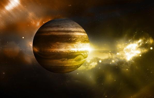 Картинка звёзды, юпитер, stars, planet, fon, jupiter, Jupiter, платета