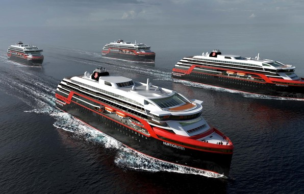 Картинка Океан, Море, Лайнер, Суда, Судно, Norway, Рендеринг, Пассажирское судно, Cruise Ship, Passenger Ship, Cruise Line, ...