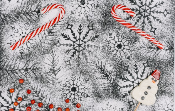 Картинка зима, снег, украшения, снежинки, фон, Новый Год, Рождество, Christmas, winter, snow, New Year, snowflakes, decoration, …