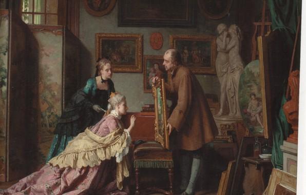 Картинка портрет, картины, антиквариат, CAROLUS