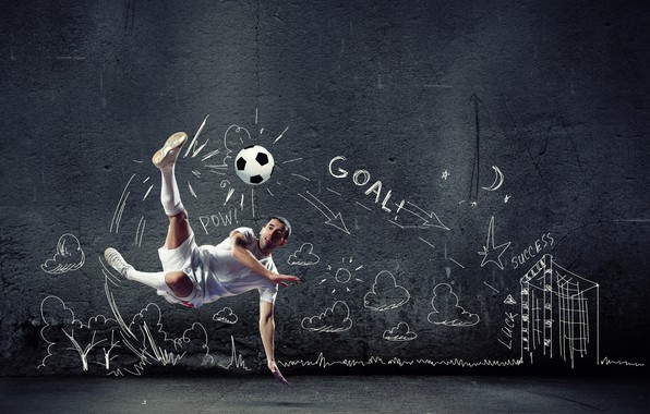 Картинка фото, Мяч, Спорт, Прыжок, Футбол, Мужчина