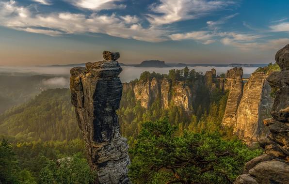 Картинка горы, Германия, Саксонская Швейцария