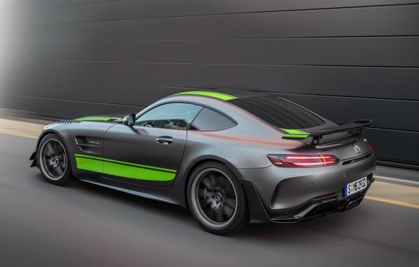 Картинка Mercedes-Benz, скорость, вид сзади, AMG, PRO, GT R, 2019