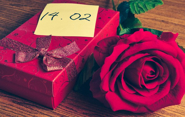 Картинка цветы, подарок, сердце, роза, red, love, красная, heart, flowers, romantic, valentine's day, gift, roses