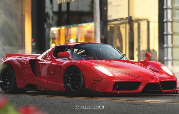 Картинка Авто, Машина, Ferrari, Car, Art, Ferrari Enzo, Enzo, Суперкар, Concept Art, Спорткар, Transport & Vehicles, ...