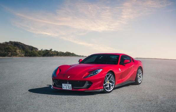 Картинка Ferrari, red, Superfast, 812