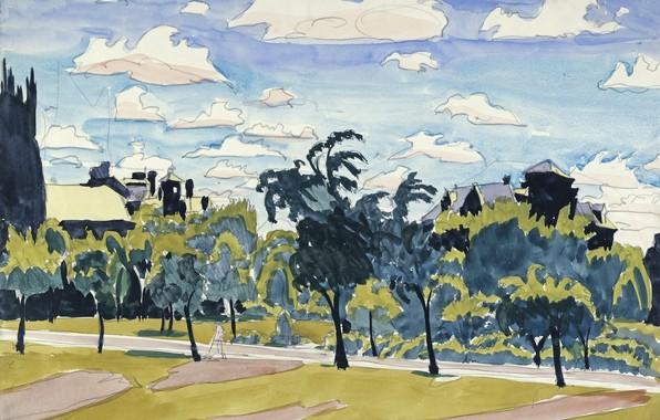 Картинка 1916, Charles Ephraim Burchfield, May Clouds