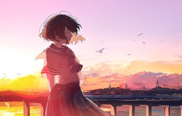 Картинка sunset, anime, art, mifuru