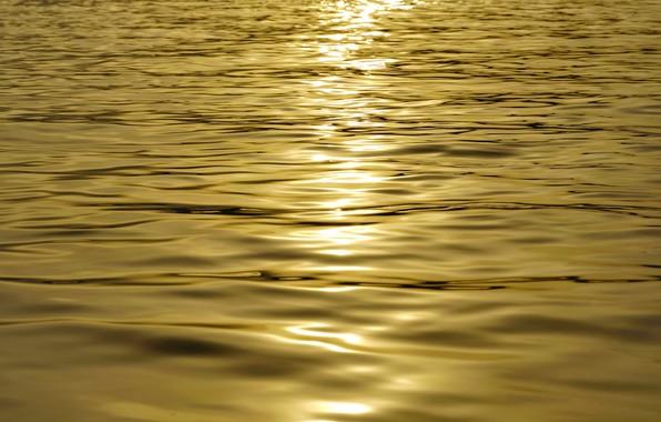 Картинка солнце, закат, Вода