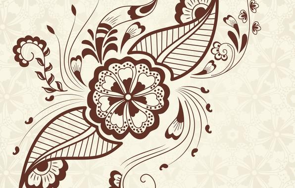 Картинка цветок, фон, узор, текстура