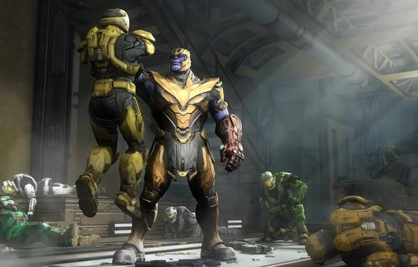 Картинка halo, spartan, master chief, titan, thanos, avengers infinity war, spartans