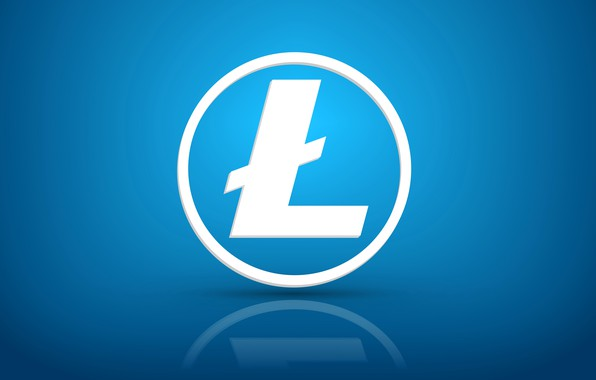 Картинка отражение, голубой, лого, fon, litecoin, лайткоин, ltc