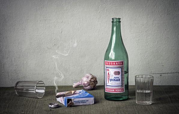 Картинка водка, ностальгия, сигареты