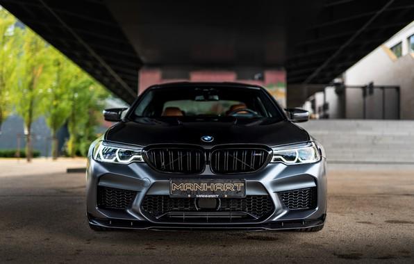 Картинка BMW, седан, вид спереди, Biturbo, BMW M5, Manhart, M5, V8, F90, 2019, 4.4 л., MH5 …