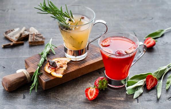 Картинка ягоды, коктейль, цитрусы