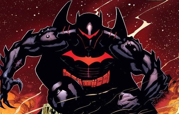 Картинка batman, бэтмен, костюм, броня, armor, DC Comics, хэлбэт, hellbat