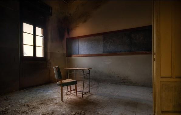 Картинка стул, доска, парта, клас