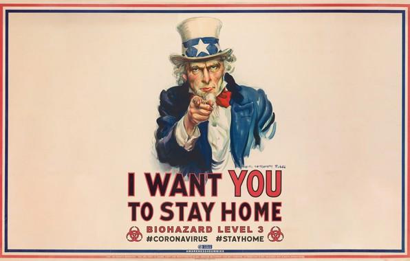 Картинка плакат, biohazard, биологическая опасность, коронавирус, covid-19, coronavirus, stay at home, оставайся дома