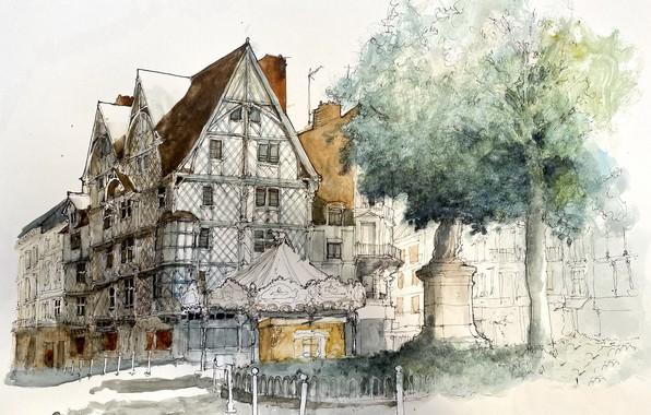 Картинка город, Pays de la Loire, Angers