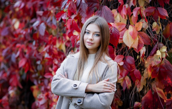Картинка осень, Девушка, Полина Костюк, Анна Шувалова