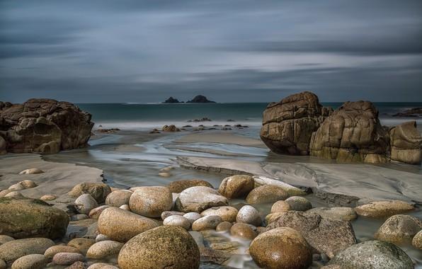 Картинка море, природа, камни, побережье
