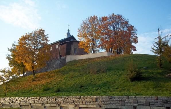 Картинка церковь, Беларусь, гродно, неман